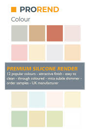 Weber Monocouche Colour Chart Prorend Colour Render Premium Silicone Render From Uk