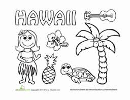 Lei Necklace Coloring Page Hawaii Coloring Page Travel Maps And