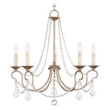 livex lighting livex lighting pennington antique silver leaf crystal chandelier 6515 73