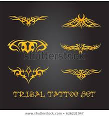 Tribal Tattoo Ornament Set Stock Vector Royalty Free 636231947