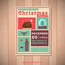 christmas dinner poster christmas dinner invitation poster vector premium download