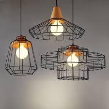 industrial pendant lighting. Black Vintage Industrial Pendant Lights Nordic Retro Lamp Iron Lampshade  Loft Metal Cage Dining Room Countryside Lighting