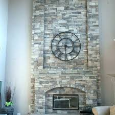 faux stone over brick fireplace stacked panels stack s mountain veneer how to install