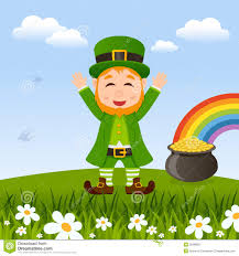 leprechaun patrick s day and pot of gold stock vector   image    leprechaun patrick s day and pot of gold