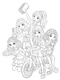 Lego Girls Coloring Pages Design Templates