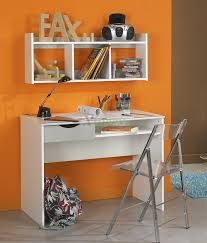 full size of kids room contemporary white kids study desk white floating bookcase orange stained
