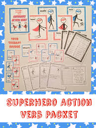 Superhero Action Verbs Your Therapy Source
