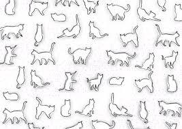 白猫の柄 シンプルでおしゃれ無料背景イラスト40295 素材good