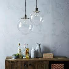 glass lamp globe lighting globe pendant clear west elm for popular household glass light prepare repurposing glass lamp globe