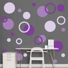 purple polka dots wall decal