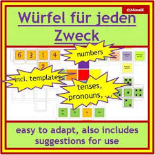 German Dice Templates Numbers Text Coloured Die Blank Formatted Templates