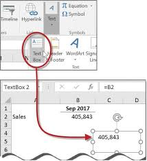 How To Create A Chart In Excel With Selected Cells Microsoft Excel How To Link Text Boxes To Data Cells