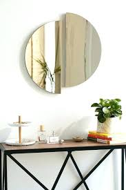 circle mirror wall decor round mirror wall decor metal in circle panel half kohls circle mirror circle mirror wall