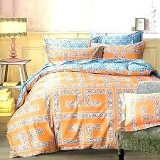 orange bedding sets queen and blue arabesque geometric king duvet cover single