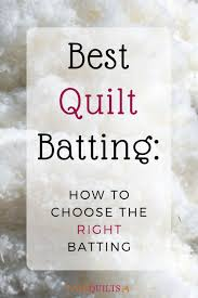 Best Quilt Batting: How to Choose the Right Batting | FaveQuilts.com & Best Quilt Batting How to Choose the Right Batting Adamdwight.com
