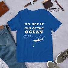 Go Get It Out Of The Ocean Baseball Funny T Shirt La Dodgers Short Sleeve Unisex T Shirt