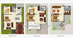 Awesome Car Parking Three Bedroom House Plans : Three Bedroom Luxury Villa  House Plan In Area