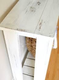 DIY Sofa Table Farmhouse Style The Crazy Craft Lady