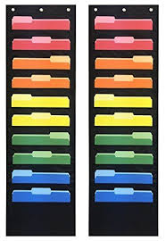 Cheap Pocket Charts Pack Of 2 Essex Wares Storage Pocket Charts Ten Pocke