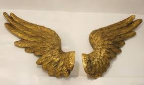 gold angel wings wall decor large gold angel wings wall decor zoom rose gold angel wings