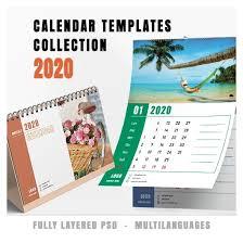 Photoshop Calendar Template 2020 Calendars Collection 2020 V 4