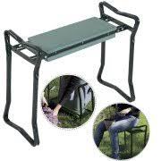 garden kneelers. Costway Folding Sturdy Garden Kneeler Gardener Kneeling Pad \u0026 Cushion Seat Knee Kneelers