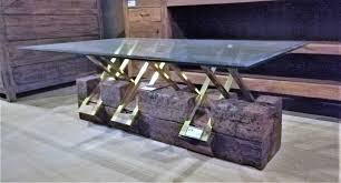 vintage coffee table made of robust