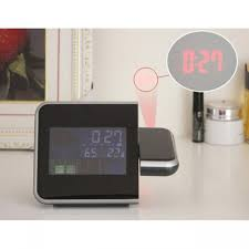 multifunctional digital weather station with alarm clock and colour