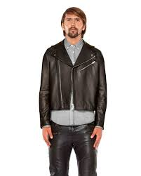 elegant mens lambskin leather biker jacket with suede panel 1