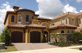 Decor Amazing Tuscan Style Homes With Yellow Color Painting Wall And Enchanting Homes By Design Painting