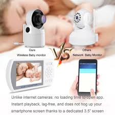 <b>3.5 Inch</b> Wireless TFT LCD <b>Video Baby</b> Monitor with Night Vision ...