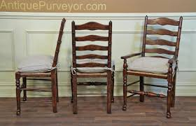 rustic ladder back dining chairs with factory distressed finish