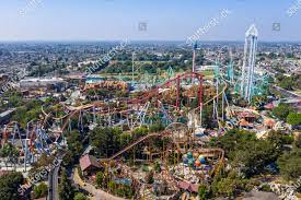 aerial view Knotts Berry Farm which ...