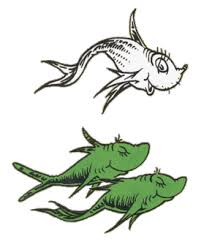 one fish two fish red fish blue fish clip art photo 19