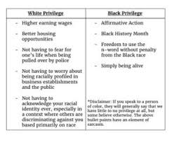 The Disparities Of Privilege By Moesha Leanna Doreen