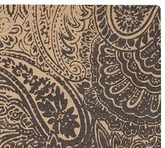 paisley printed natural fiber rug swatch