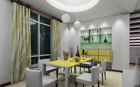 Gray Dining Room Gray And Yellow Combination For Dining Room Interior Design