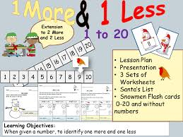 Counting and Numbers: 1 More/1 Less - Presentation, Lesson Plan ...