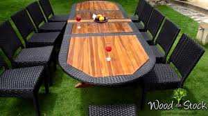 salon de jardin - ensemble table teck résine et chaises résine ...