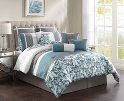 Unique Bedding Sets Bedroom Special Gray Embroidered Bedding Comforter Set For Full