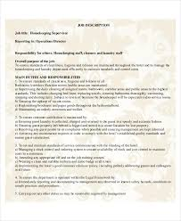 housekeeping resume templates housekeeping resume template 4 free word pdf documents download