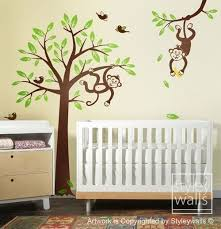 monkey tree wall decals for nursery