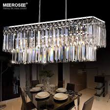 modern pendant light fixture rectangle crystal lamp luminaire crystal hanging home lighting living room dining room hotel re malaysia