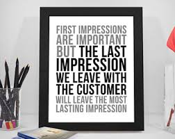 office wall decor. first impressions are important, customer service quote, business print, office wall decor s