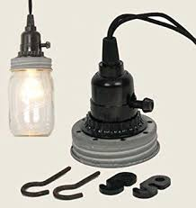 Mason Jar Pendant Lamp Kit in Weathered Galvanized - Ceiling Pendant  Fixtures - Amazon.com
