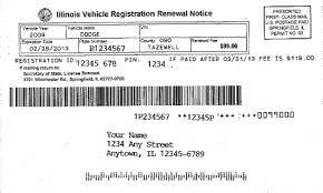 vehicle registration reminder notices