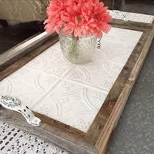 Decorative Serving Trays With Handles Vintage Style Serving Tray With Handles Barnwood Decor Ceiling 84