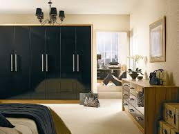Black Gloss Wardrobes In Modern Bedroom Design