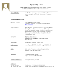 Resume Examples For High School Students With No Work Experien