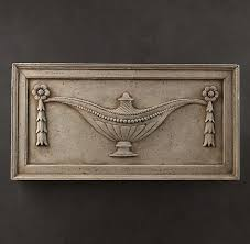 Elements of the architectural decor of the. Architectural Plaster Fragments Urn Wall Carvings Hanging Wall Decor Art Plaque
